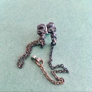 UO skull earrings
